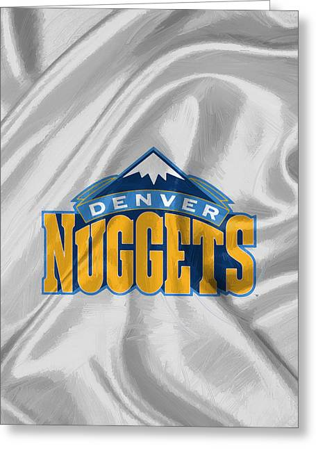 Denver Nuggets Greeting Card by Afterdarkness