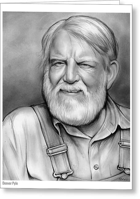 Denver Pyle Greeting Card by Greg Joens