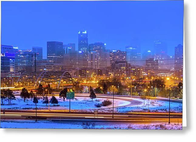 Denver Snowfall Greeting Card
