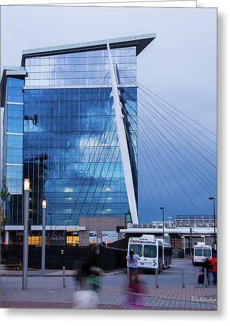 Denver Union Station And Milennium Bridge Greeting Card