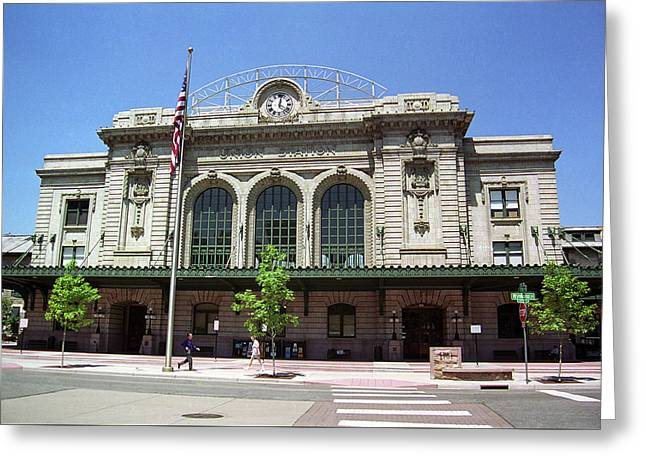 Greeting Card featuring the photograph Denver - Union Station Film by Frank Romeo