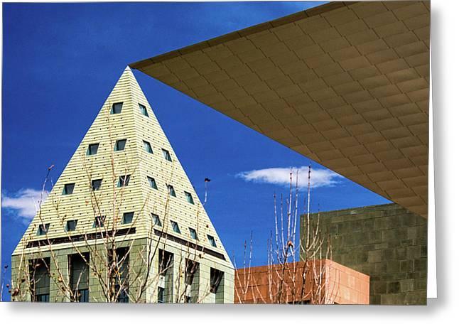 Denver Urban Geometry Greeting Card