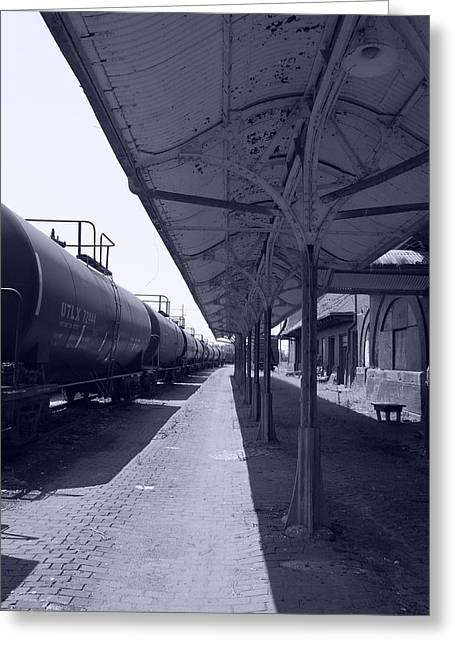 Departing Depot Greeting Card by Jame Hayes