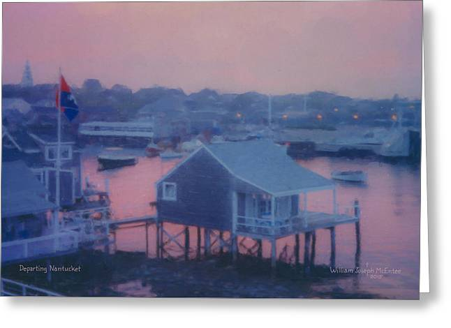 Departing Nantucket Greeting Card