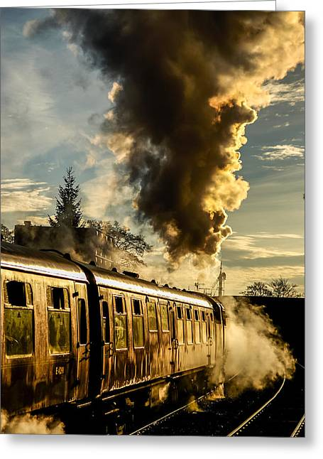 Departing Steam Greeting Card