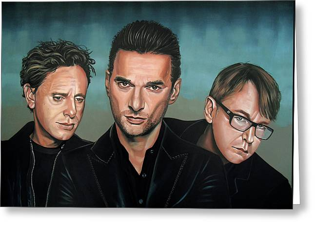 Depeche Mode Painting Greeting Card by Paul Meijering