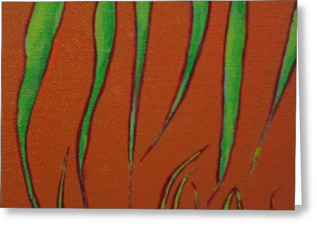 Depleted Grass Greeting Card