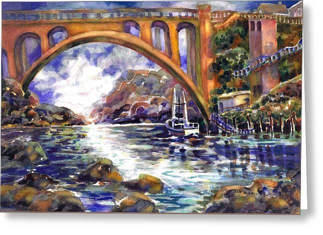 Depoe Bay Bridge Greeting Card