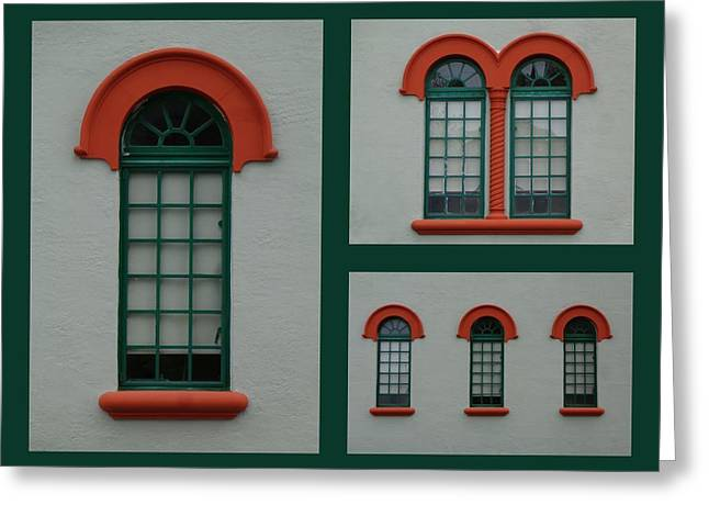 Depot Windows Collage One Greeting Card