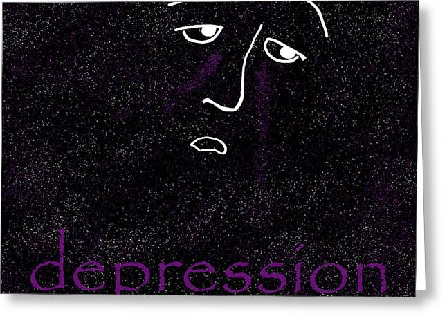 Depression Greeting Card by Methune Hively