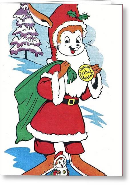 Deputy Father Christmas Greeting Card by Hugh McNeill