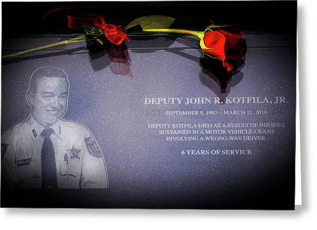 Deputy Kotfila Greeting Card by Marvin Spates