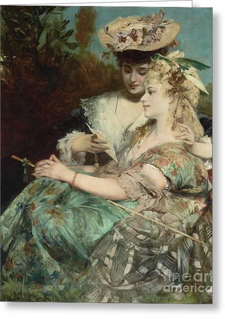 Der Liebesbrief, 1875 Greeting Card