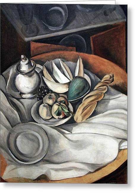 Derain's Still Life Greeting Card by Cora Wandel