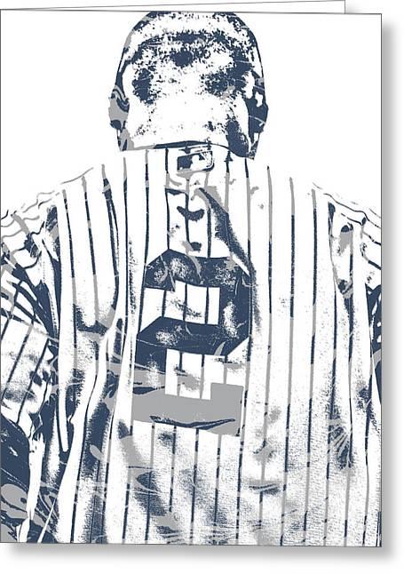 Derek Jeter New York Yankees Pixel Art 11 Greeting Card