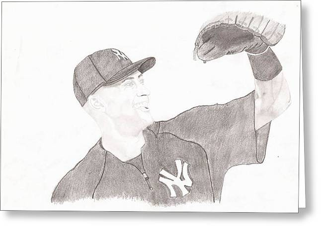 Derek Jeter - Yankee Captain Greeting Card by JJ Tyler