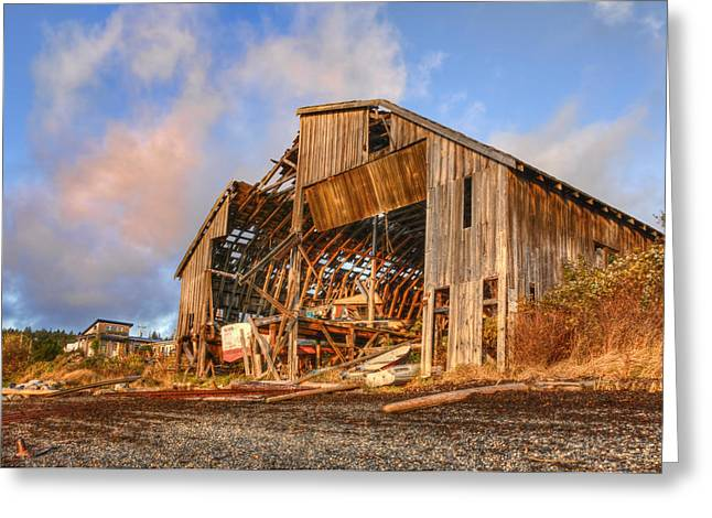 Derelict Boatshed Greeting Card by Darryl Luscombe