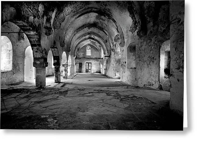 Derelict Cypriot Church. Greeting Card
