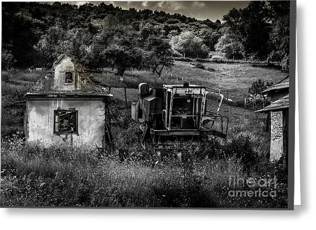 Derelict Farm, Transylvania Greeting Card
