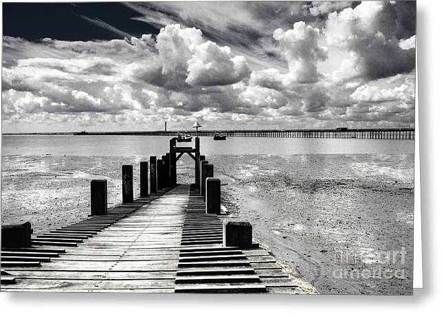 Derelict Wharf Greeting Card by Avalon Fine Art Photography