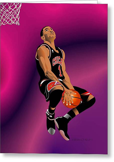 Derrick Rose 3 Greeting Card