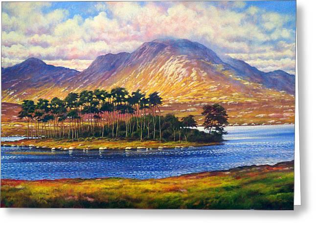 Derryclare,connemara,ireland Greeting Card by Alan Kenny