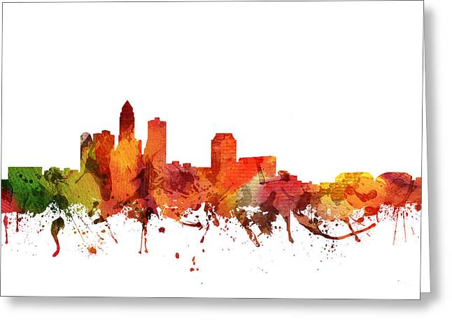 Des Moines Cityscape 04 Greeting Card by Aged Pixel