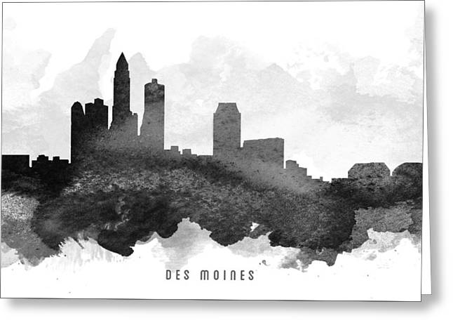 Des Moines Cityscape 11 Greeting Card by Aged Pixel