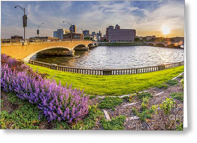 Des Moines From The River Greeting Card by Twenty Two North Photography