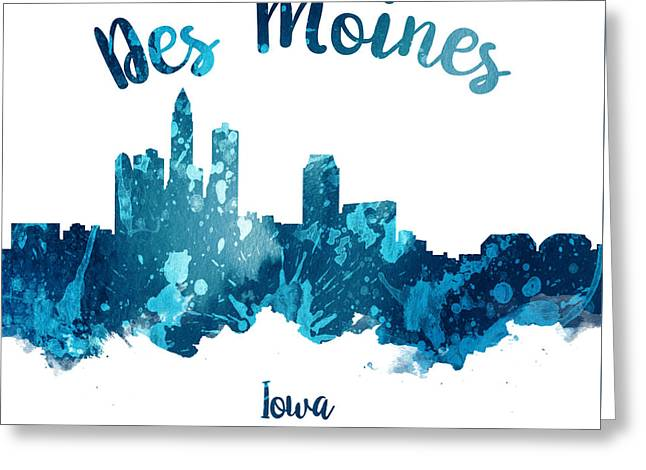 Des Moines Iowa 27 Greeting Card by Aged Pixel