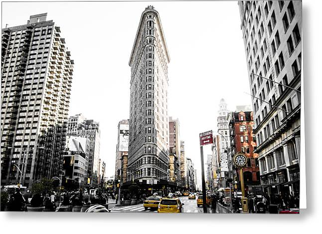 Desaturated New York Greeting Card by Nicklas Gustafsson