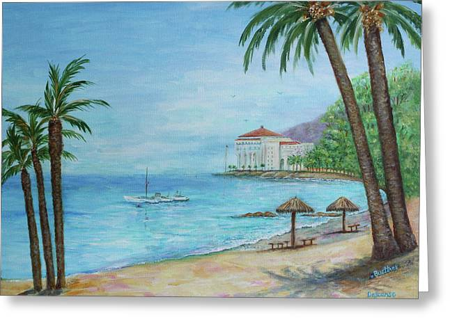 Descanso Beach, Catalina Greeting Card