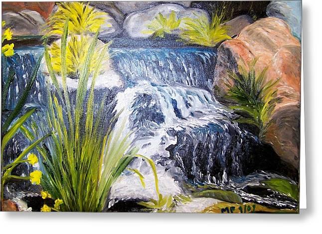 Descanso Waterfall Greeting Card by Madeleine Prochazka
