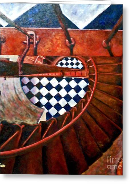 Descending Hatteras -sold Greeting Card by Mirinda Reynolds