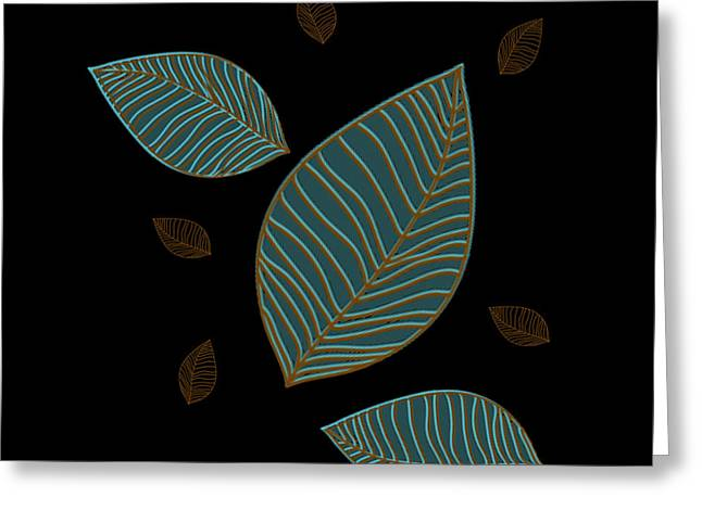 Descending Leaves Greeting Card by Kandy Hurley