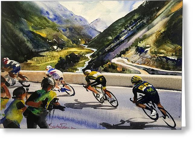 Descending The Alps Greeting Card