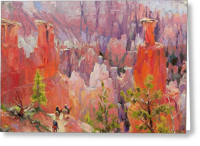 Descent Into Bryce Greeting Card