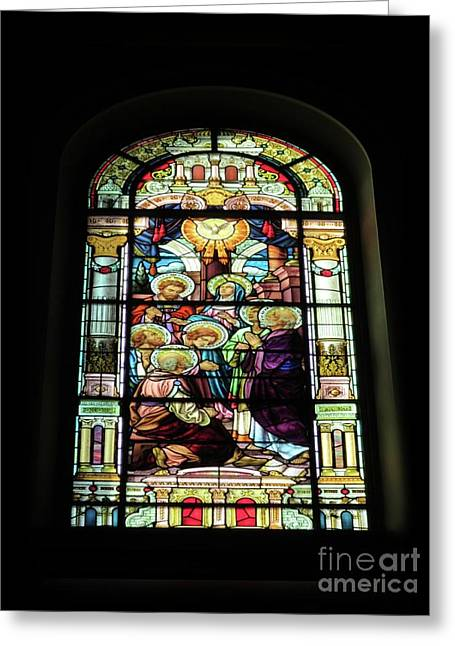 Descent Of The Holy Spirit Greeting Card by Elizabeth Duggan