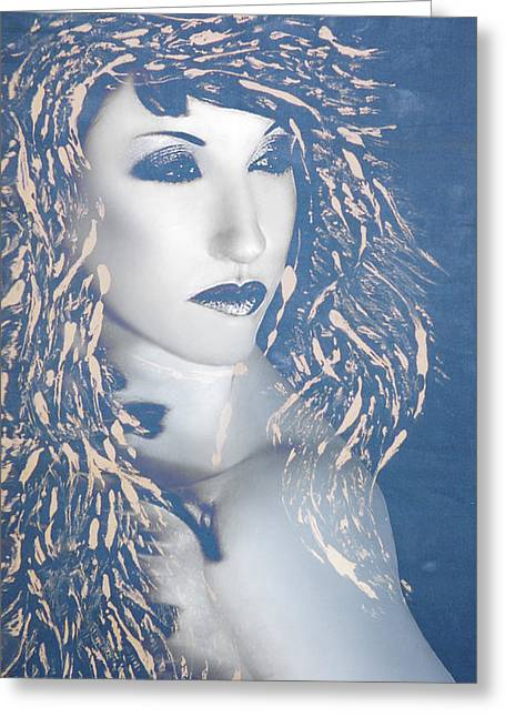 Desdemona Blue - Self Portrait Greeting Card