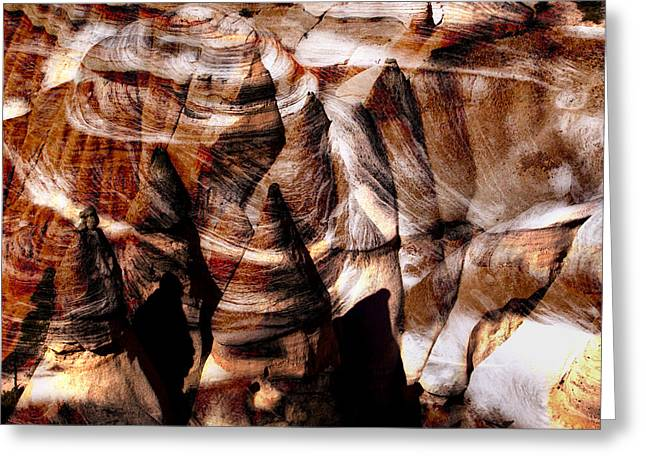 Desert Abstract Greeting Card