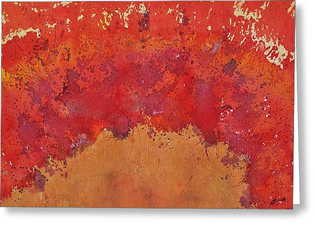 Desert Arch Original Painting Greeting Card by Sol Luckman