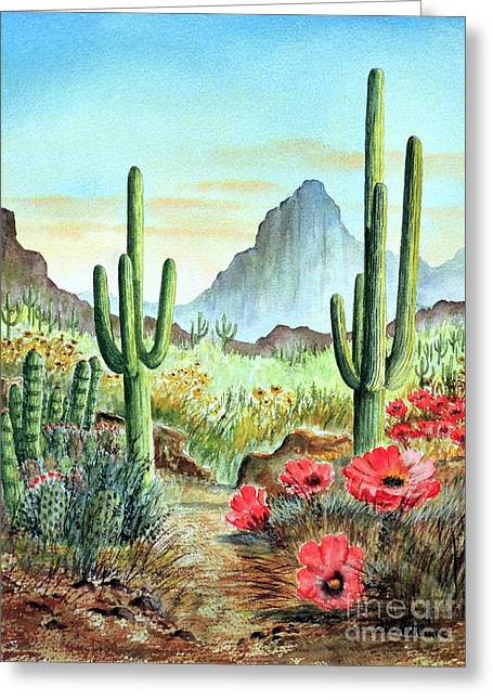 Desert Cacti - After The Rains Greeting Card