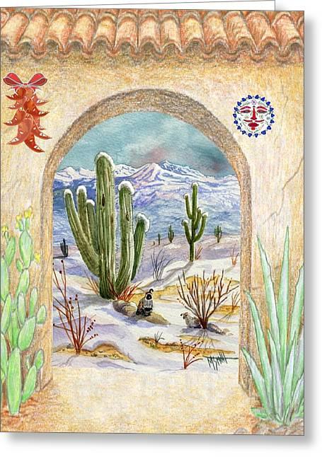 Desert Christmas Greeting Card