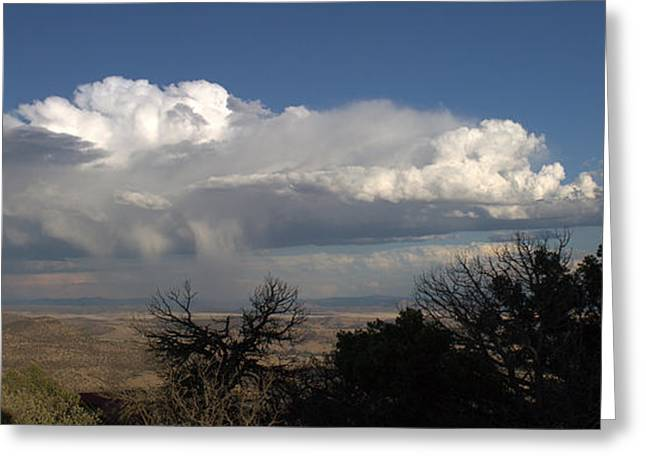 Greeting Card featuring the photograph Desert Clouds by Farol Tomson
