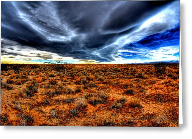 Desert Clouds Greeting Card by Tom Melo