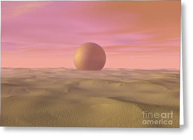 Desert Dream Of Geometric Proportions Greeting Card