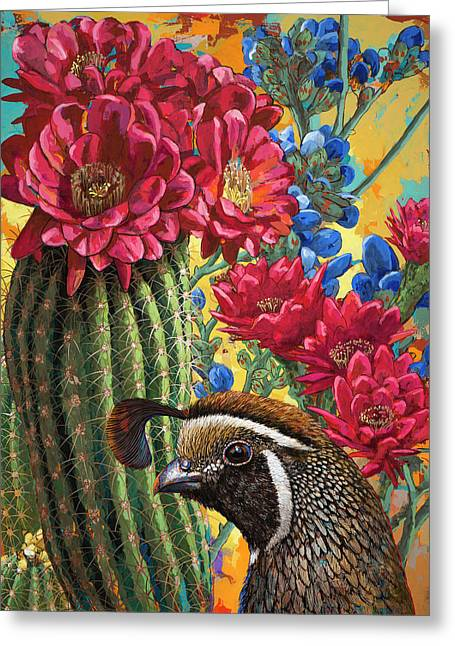 Greeting Card featuring the painting Desert Dreaming by David Palmer