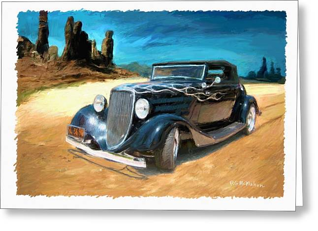 Desert Drive Greeting Card