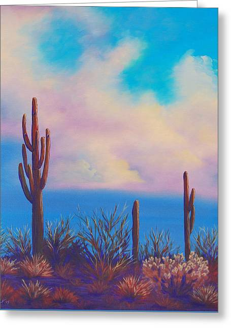 Desert Fog Greeting Card