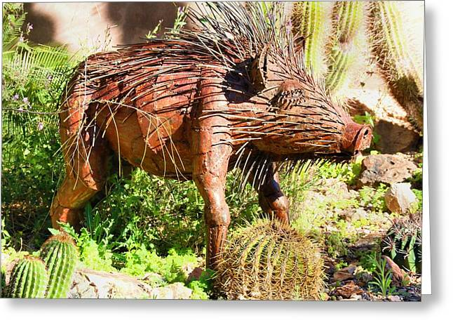 Desert Garden Statue Greeting Card